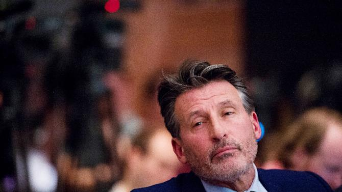 IAAF's President Sebastian Coe attends a press conference on the report of the World Anti-Doping Agency concerning allegations of widespread doping in International Atheltics, in Unterschleissheim near Munich, southern Germany, January 14, 2016