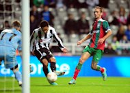 Sylvain Marveaux, centre, scored but Newcastle were pegged back late on