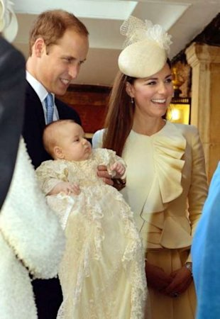 Prince William, Kate MIddleton, Prince George