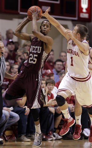 No. 23 Hoosiers rout N. Carolina Central 75-56