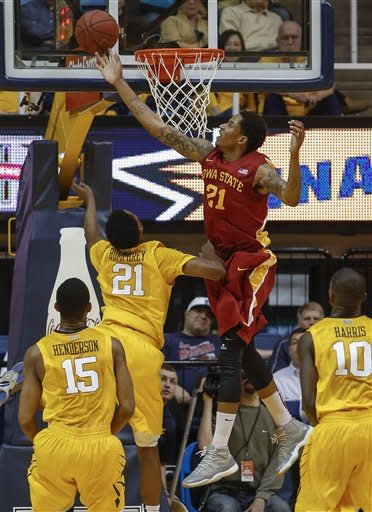 Clyburn leads Iowa State over West Virginia 83-74