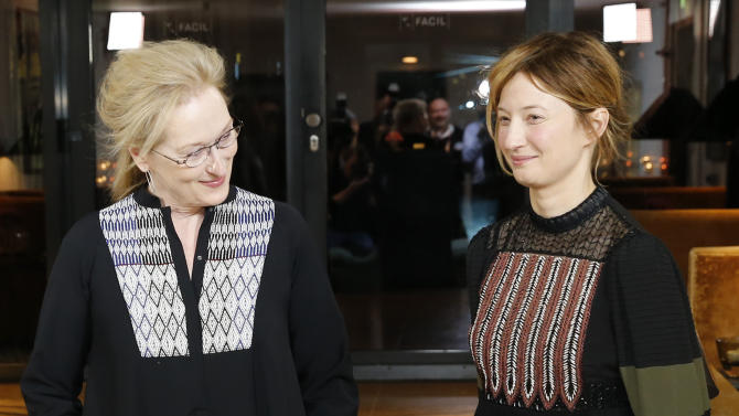 Members of the international jury of the upcoming 66th Berlinale International Film Festival, U.S. actress Meryl Streep and Italian actress Alba Rohrwacher pose during a photocall in Berlin