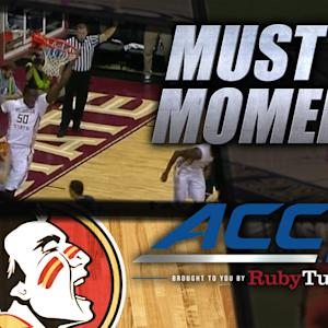 FSU's Michael Ojo Throws Down Follow Slam | ACC Must See Moment