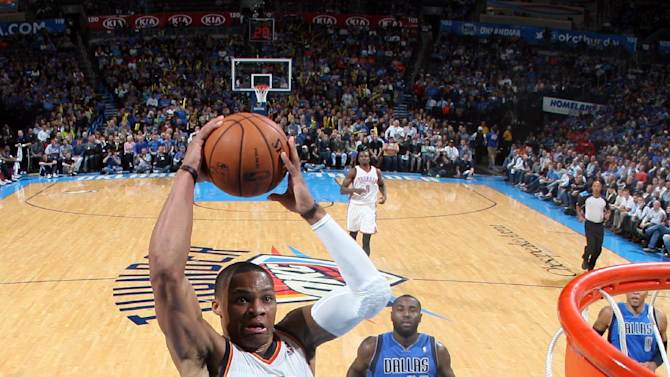 Durant, Westbrook lead OKC past Dallas 107-93