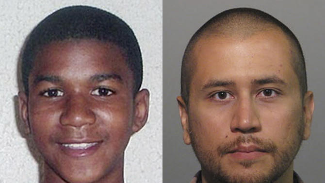 FILE -This combo image made from file photos shows Trayvon Martin, left, and George Zimmerman. When President Barack Obama told the nation on Friday, July 19, 2013, that slain black teenager Trayvon Martin could have been him 35 years ago, many black Americans across the nation nodded their head in silent understanding. (AP Photos, File)