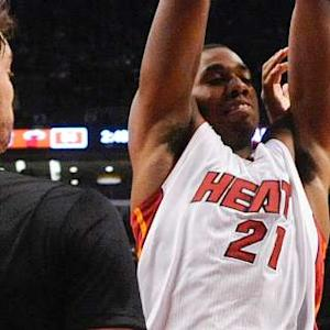 Whiteside Sets Triple-Double and Franchise Record 12 Blocks