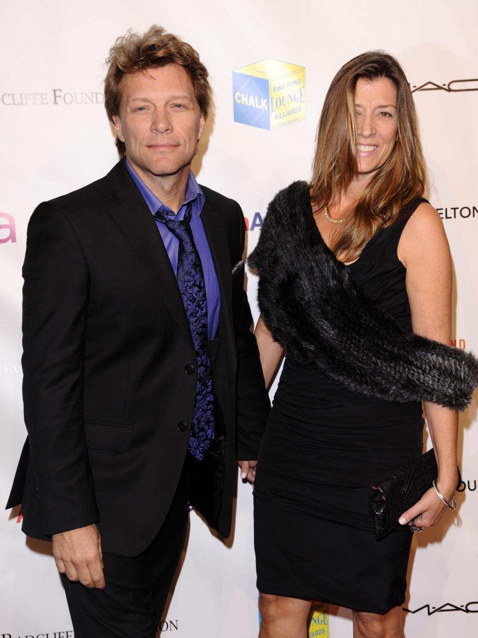 Singer Jon Bon Jovi and Dorothea Bon Jovi attend the Elton John AIDS Foundation 10th Annual Enduring Vision Benefit, on Wednesday, Oct. 26, 2011, in New York. (AP Photo/Peter Kramer)