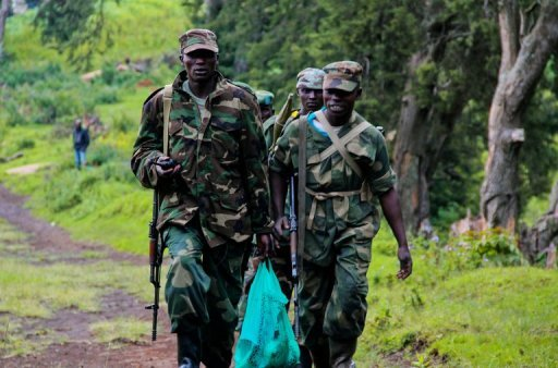 <p>M23 rebels patrol in North Kivu, eastern Democratic Republic of the Congo (DRC), on June 3. Rwanda's foreign minister dismissed as biased and incomplete a UN document that said Kigali was backing a mutiny in neighbouring Democratic Republic of Congo and so violating an arms embargo</p>