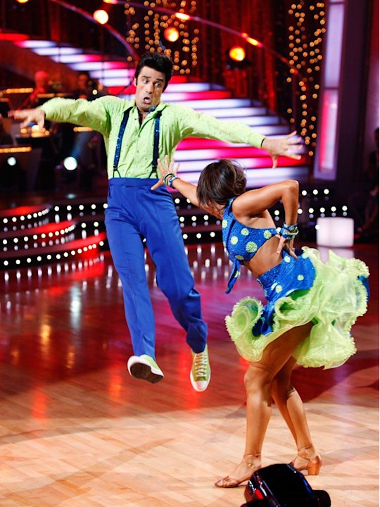 Gilles Marini and Cheryl Burke perform the Lindy Hop to &quot;Go Daddy-O&quot; by Big Bad Voodoo Daddy on &quot;Dancing with the Stars.&quot;