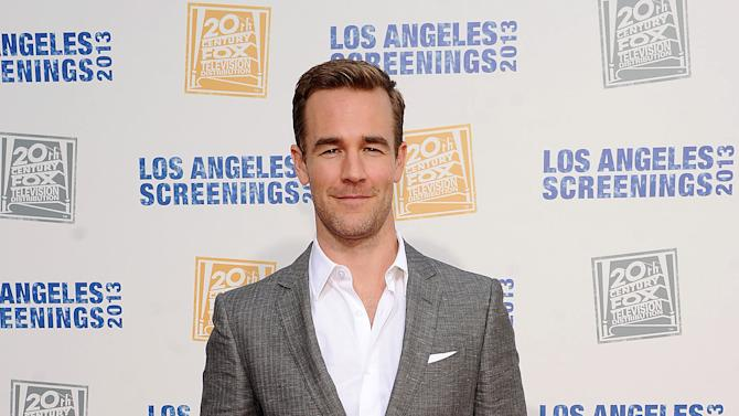 James Van Der Beek arrives at Twentieth Century Fox Television Distribution's 2013 LA Screenings Lot Party on Thursday, May 23, 2013 in Los Angeles, California. (Photo by Frank Micelotts/Invision for Twentieth Century Fox Television/AP Images)