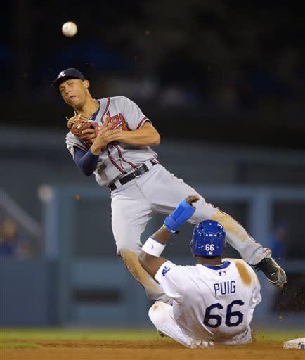 Braves' Medlen homers in his 2-1 win over Dodgers