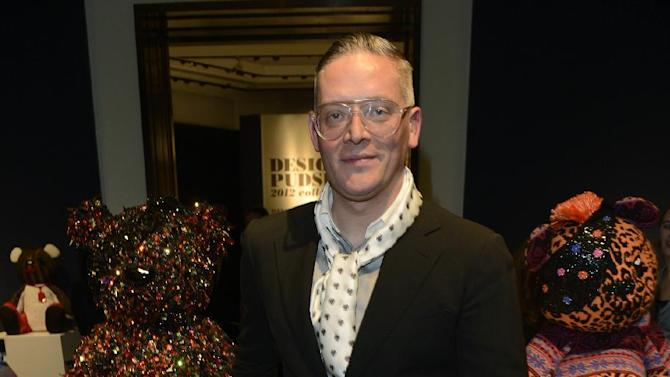 Designer Giles Deacon seen at the Designer Pudsey 2012 Collection auction in association with BBC's Children in Need at Christie's Auction House on Thursday, Nov. 15, 2012, in London. (Photo by Jon Furniss/Invision for Children in Need/AP Images)