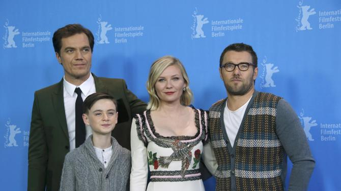 Actors Shannon Lieberher Dunst and Egerton pose during photocall at 66th Berlinale International Film Festival in Berlin