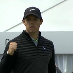 Rory Mcilroy drains a long eagle putt for Shot of the Day