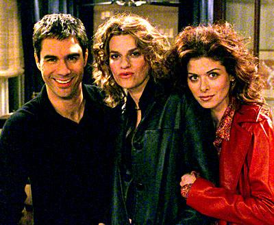 Eric McCormack, Sandra Bernhard and Debra Messing on NBC's Will and Grace