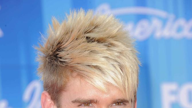 Colton Dixon arrives at the American Idol Finale on Wednesday, May 23, 2012 in Los Angeles. (Photo by Jordan Strauss/Invision/AP)