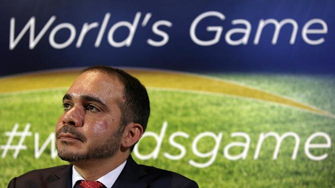 FIFA presidential candidate Prince Ali bin Al Hussein of Jordan, pictured during a press conference in London, in February 2015