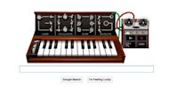 An interactive Google Doodle synthesizer celebrating the 78th birthday of Robert Moog