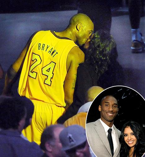 PIC: Kobe Bryant Kisses Estranged Wife Vanessa