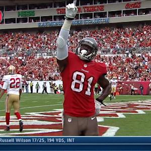 Tampa Bay Buccaneers tight end Timothy Wright 24-yard touchdown catch