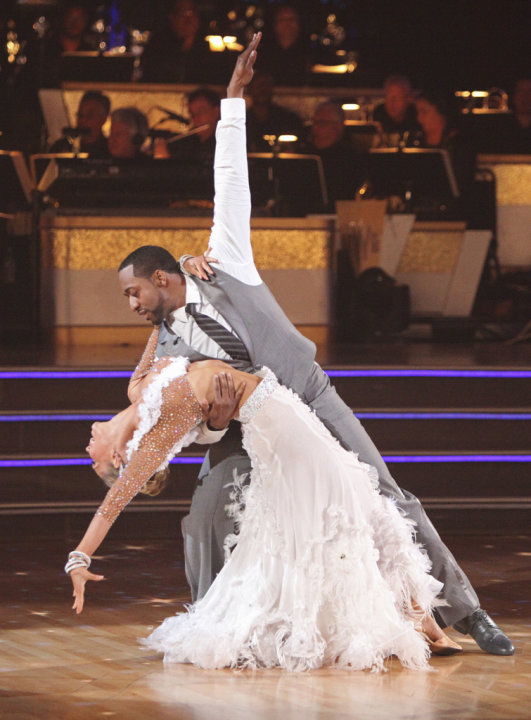Kym Johnson and Jaleel White perform on &quot;Dancing With the Stars.&quot; 