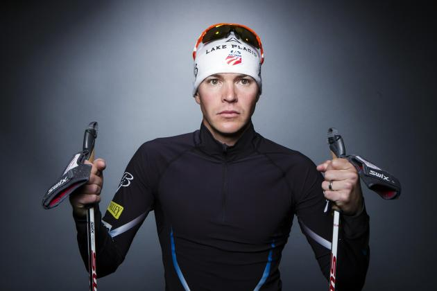 Olympic Nordic combined skier Billy Demong poses for a portrait during the 2013 U.S. Olympic Team Media Summit in Park City, Utah