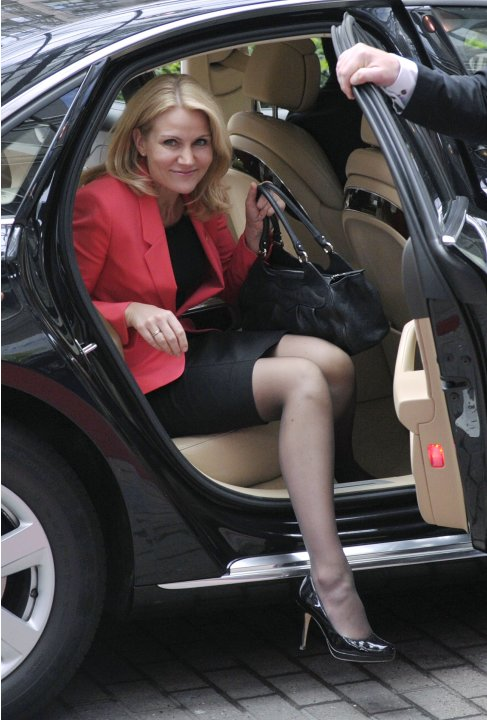 Denmark's PM Thorning-Schmidt arrives at a European Union leaders summit in Brussels