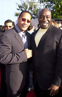 Premiere: The Rock and Michael Clarke Duncan at the Universal city premiere of Universal's The Mummy Returns - 4/29/2001 Dwayne Johnson