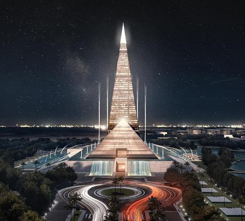 Rendering Reveals: Egypt is Building a Pretty Blingy Pyramid Skyscraper