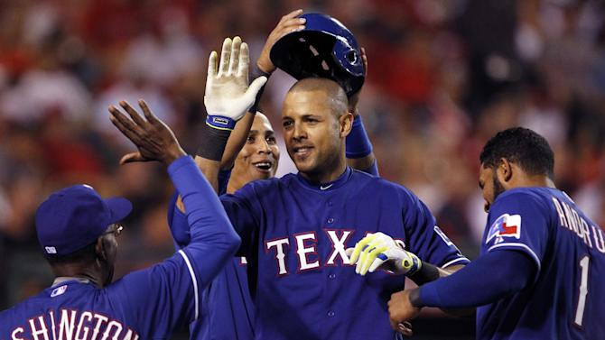 Choo, Rios go deep to help Rangers beat Angels 5-2