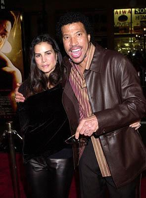 Lionel Richie and wife Diane at the Hollywood premiere of Ali