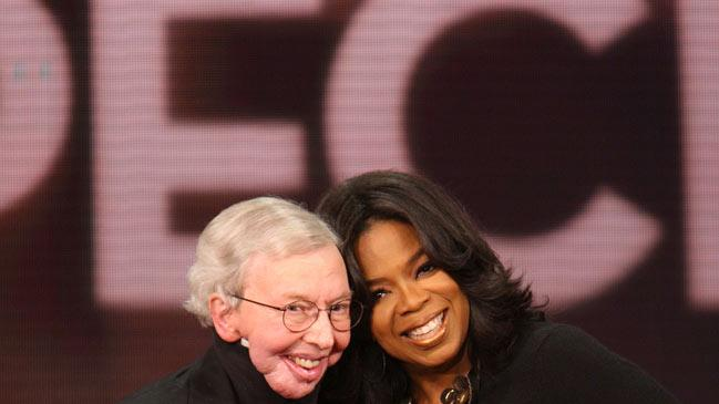 "Roger Ebert with Oprah on ""The Oprah Winfrey Show."""