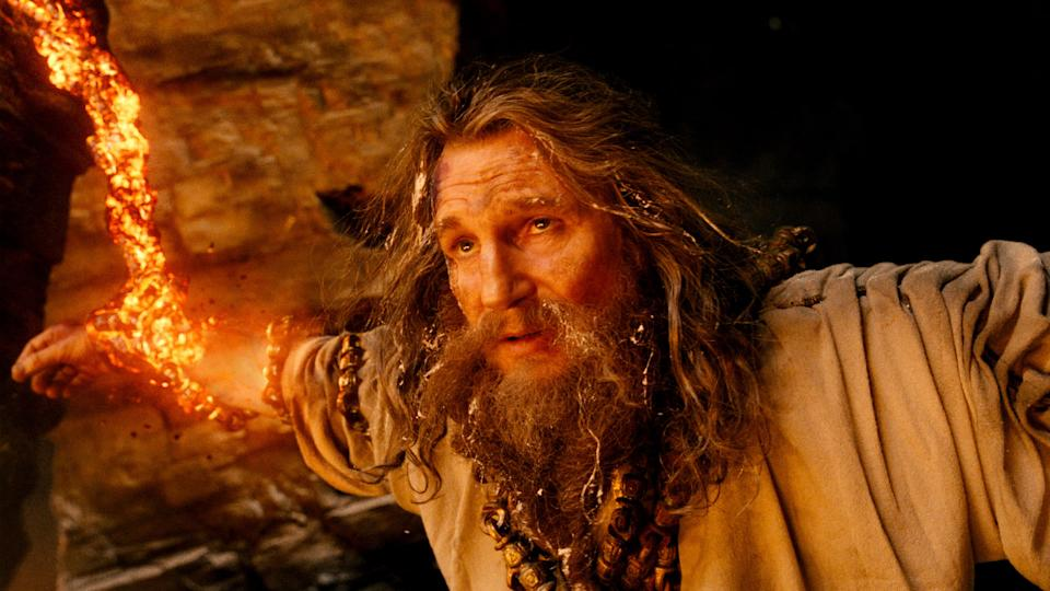 "In this film image released by Warner Bros., Liam Neeson portrays Zeus in a scene from ""Wrath of the Titans."" (AP Photo/Warner Bros. and Legendary Pictures)"