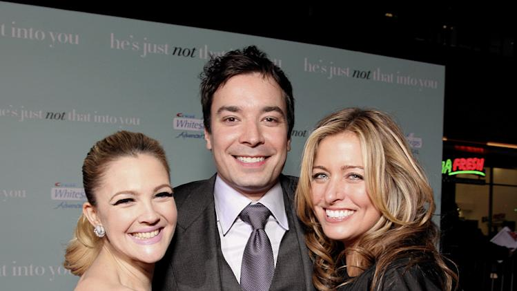 He's Just Not That Into You LA premiere 2009 Drew Barrymore Jimmy Fallon Nancy Juvonen