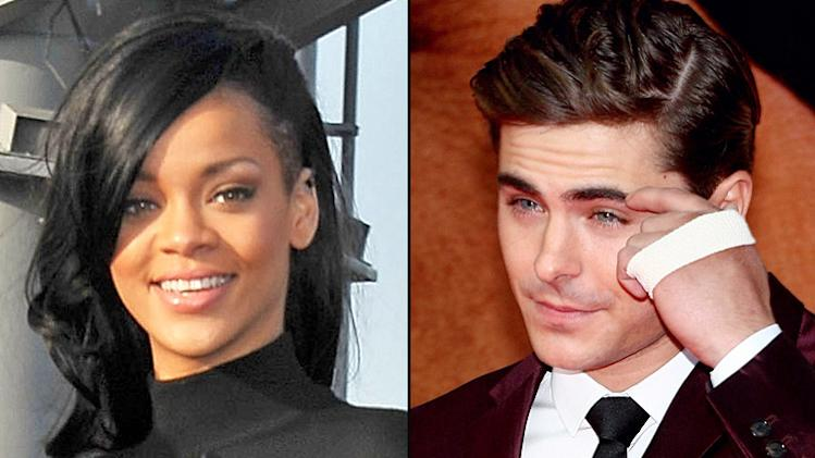 Zac Effron and Rihanna