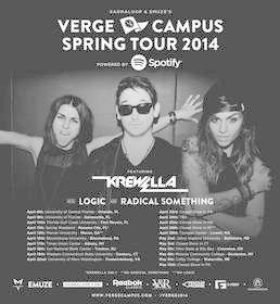KREWELLA to Headline EMUZE & Karmaloop's Verge Campus Spring Tour 2014 Powered by Spotify