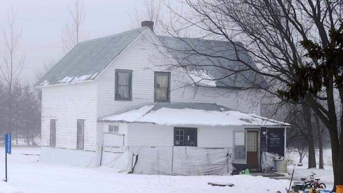 This Friday, Jan. 11, 2013 photo shows the home of Michael Jeff Landers, near his grandparents home outside Browerville, Minn. Authorities have determined that Landers, 24, is really Richard Wayne Landers, Jr., who was abducted by his paternal grandparents when he was 5 years old, when his unemployed mother was living in a car in Indiana. Sheriff Peter Mikkelson said the investigation is ongoing and that the case will be forwarded to federal authorities for possible charges. (AP Photo/Jim Mone)