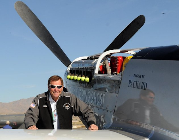 INCLUDES ADDITION THAT PILOT WAS KILLED IN CRASH-This Wednesday, Sept. 15, 2010 photo, shows long time Reno Air Race pilot Jimmy Leeward with his P51 Mustang.  A spokesman for Reno's National Champion