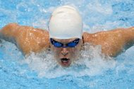 US swimmer Elizabeth Beisel competes in the women's 400m individual medley heats swimming event at the London 2012 Olympic Games