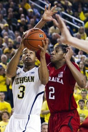 No. 2 Michigan tops Nebraska 62-47 to move to 16-0
