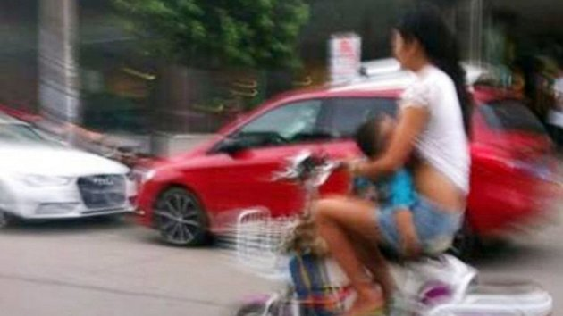 Woman Warned About Riding While Breastfeeding (ABC News)