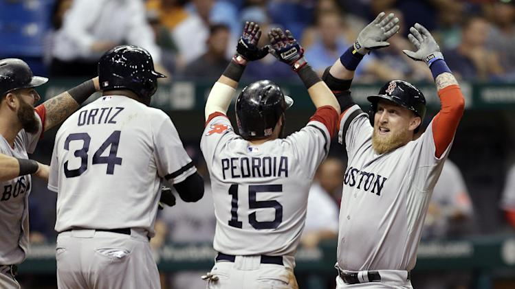Carp hits grand slam, Red Sox beat Rays 7-3