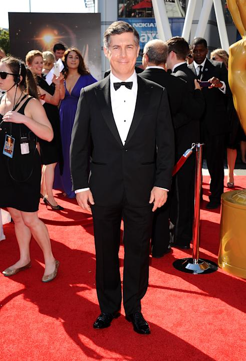 Chris Parnell arrives at the 2013 Primetime Creative Arts Emmy Awards, on Sunday, September 15, 2013 at Nokia Theatre L.A. Live, in Los Angeles, Calif. (Photo by Scott Kirkland/Invision for Academy of