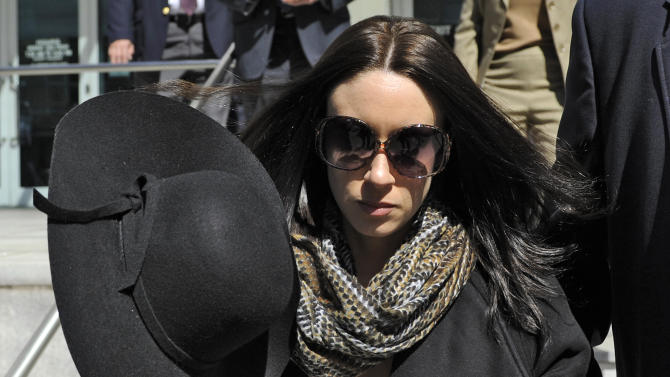 "FILE - In this Monday, March 4, 2013 file photo, Casey Anthony leaves the federal courthouse in Tampa, Fla., after a bankruptcy hearing. The trustee overseeing Casey Anthony's bankruptcy case has filed a motion to sell the rights to her story so she can pay her debts. In a motion filed Friday, March 18, 2013, in federal court in Tampa, Fla., trustee Stephen Meininger asked Judge K. Rodney May for permission to sell the ""exclusive worldwide rights"" of Anthony's life story. (AP Photo/Brian Blanco, File)"