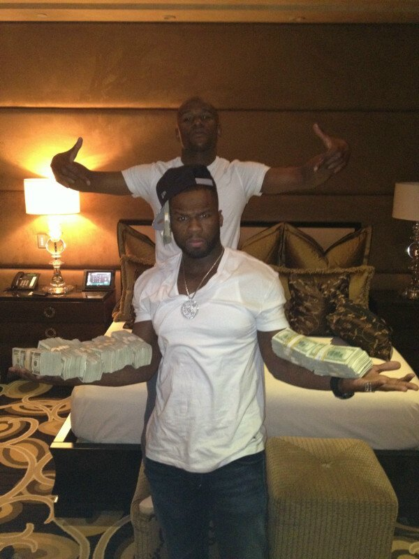 50 cent and floyd mayweather jr