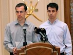 Josh Fattal, right, and Shane Bauer say they strayed into Iran while hiking on the Iraq border