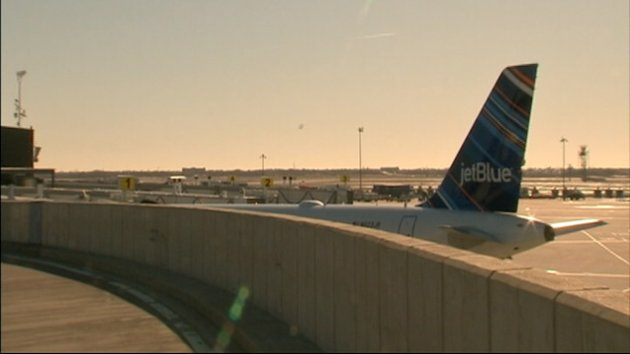 Plane Clipped on JFK Taxiway (ABC News)