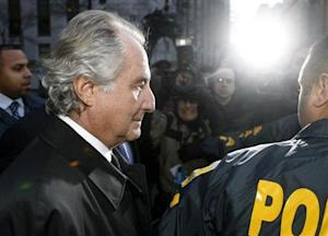 Bernard Madoff departs US Federal Court after a hearing in New York