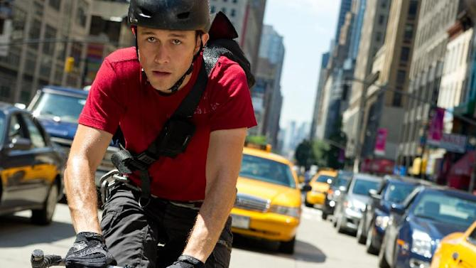 """This film image released by Columbia Pictures shows Joseph Gordon-Levitt in a scene from """"Premium Rush."""" (AP Photo/Columbia Pictures - Sony, Sarah Shatz)"""