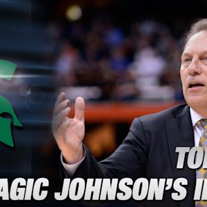 Tom Izzo on How Magic Johnson Helps Spartans Prep for Elite 8 vs Louisville